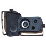 """Pyle PDWR30B 3.5"""" Indoor/Outdoor Waterproof Speakers Black"""