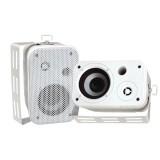 """Pyle PDWR30W 3.5"""" Indoor/Outdoor Waterproof Speakers White"""