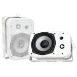 """PYLE PDWR40W 5.25"""" Indoor/Outdoor Waterproof Speakers White"""