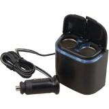Pyle PL12V2CP Plug In Car 1-To-2 Cigarette Lighter Multiplier