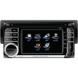"Power Acoustik PD-450 4.5"" Single-DIN In-Dash Motorized TFT/LCD Touchscreen with DVD & Detachable Face"