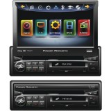 "Power Acoustik PD-740NB 7"" Inteq Single-Din Motorized Flip-Up Multimedia Receiver With Bluetooth & Ipod Control"