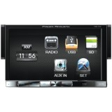 "Power Acoustik PDR-760 7"" Mech-less Single-Din In-Dash Multimedia Receiver With Detachable Face - Front of unit"