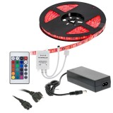 Quality Mobile Video LS5M3528IR 16.5 Foot Flexible Full Color LED Light Strip Kit with IR remote control