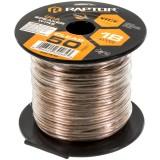Metra Raptor RSW18-50 18-Gauge 50 Ft Clear Speaker Wire