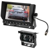 Safesight SC9012 Universal 7 inch LCD Monitor and RV Back Up Color CCD Camera System with 120 Degrees Wide Angle Camera