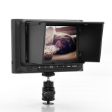 Safesight CVFQ-E242 5 Inch On-Camera HD DSLR Monitor 1080P, HDMI, AV inputs, Battery compatible - With sun shade