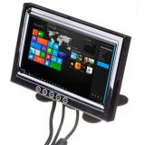Safesight TOP-PD7002VTA 7 Inch VGA Touchscreen LCD Monitor with composite video input - On fan mount right side