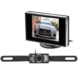 """Safesight TOP-SS-BUPKG2 3.5"""" Backup Monitor with License Plate Backup Camera"""
