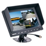 Safesight TOP-SS-009LQ 9 inch quad screen monitor - Front Ledt