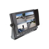"SafeSight TOP-SS-D1004Q 10"" Commerial Quad Back up camera monitor - Left front perspective"