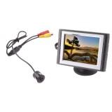 "Safesight SC0302-SC3102 3.5"" Back up monitor with micro flush mount reverse camera"