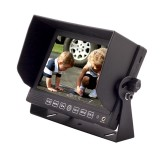 Safesight SC7104 Universal 7 inch Quad LCD display - Right side with sun shade installed