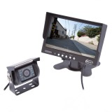 Safesight SC9004 Universal 7 inch LCD Monitor and RV Back Up Color CCD Camera System with 120 Degrees Wide Angle Camera