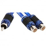 Stinger SI62YF 6000-Series (2) Female to (1) Male Y-Adapter Car Stereo RCA Interconnect Cable