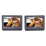 """Sylvania SDVD1010 10"""" Dual-Screen Single Portable DVD Player"""