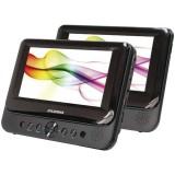 """Sylvania SDVD8739 7"""" Dual-Screen Single Portable DVD Player"""