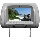 "Tview T726PL-GR 7"" Replacement Headrest with 2-Video Inputs"
