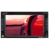 """Dual XDVD1262 6.2"""" Double-Din In-Dash Touchscreen DVD Receiver with USB/SD inputs and iPod control"""