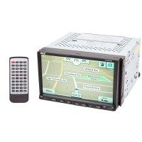 pyle pldnv78i double din 7 inch wide tft & lcd touch screen monitor with  bluetooth & gps for vehicles  quality mobile video