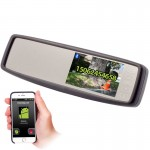 Accelevision RVM430BT Clip On 4.3 inch Rear View Mirror Monitor with Bluetooth