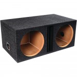 """ATREND-BBOX E12DV B Box Series Dual Vented Enclosure with Divided Chambers 12"""""""
