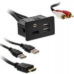 Axxess AX-FDUSBAUX HDMI, USB and 3.5mm Rectangle Panel Jack and Extension Cable