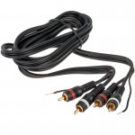 Accele 3301B Matrix Double Shielded RCA Audio Video Cable - 3 foot