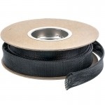 "TechFlex FLX125BLK 1-1/4"" Flexo PET General Purpose Braided Cable Sleeve - Black 50 foot roll"