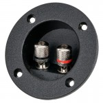 The Install Bay TCRB2 Circular Recessed Terminal Cup with Silver Binding Posts