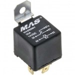 MAS MAS50MV Imported 12 VDC Automotive 5-Pin Relay SPDT 30/50A Removable Metal tab