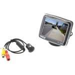 "Pyle PLCM32 3.5"" TFT LCD Monitor with surface / flush mount camera"