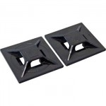 Panduit ABMM-A-C20 4-Way adhesive backed cable tie mount - Black
