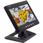 DISCONTINUED - Pyle PLHR79 7 inch Universal Widescreen LCD Monitor with 2 Video Inputs, Headrest Shroud and Pedestal Stand