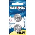 Rayovac KECR2032-2A CR2032 3-Volt Lithium Battery - 2 Pack