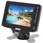 Safesight TOP-005LB 5 inch Universal TFT LCD Monitor with mount and headrest shroud