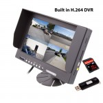 """Safesight TOP-SS-D9003Q 9"""" Quad Screen LCD Monitor with built in DVR"""