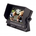 Safesight SC7104 Universal 7 inch Monitor with 3 Video Inputs for Back Up