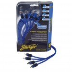 Stinger SI6412 6000-Series 12-Foot Car 4-Channel Stereo RCA Interconnect Cables