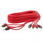 T-Spec V6RCA-174-10 17 Foot V6 Series Four-channel RCA Audio Cable in Red - 10 Pack