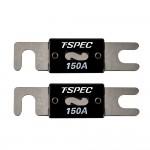 T-Spec V8-ANL150V8 Series 150 Ampere Nickel Plated ANL Fuses - 2 Pack