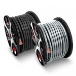 T-Spec V8PW-1020 Universal 20 Feet 0 Gauge V8 Series Power Wire in Solid Silver for Vehicles