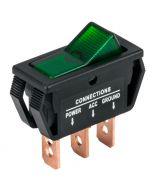 Accele 257GRN Rocker Switch with Green LED illumination - Main