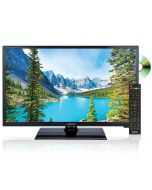 """Axess TVD1805-24 24"""" HD LED TV with AC/DC power adapter and built in DVD"""