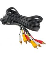 Accelevision AVS-3 Double Shielded RCA Audio Video Cable