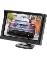 Monitor with dash mount pedestal stand
