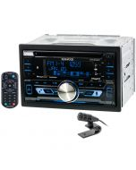 Kenwood DPX502BT Double DIN CD Car Stereo Receiver with HD-Radio and Bluetooth - Main