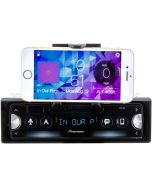 Pioneer SPH-10BT Smart Syn Single DIN Receiver with Built-In Smartphone Cradle, Bluetooth and USB