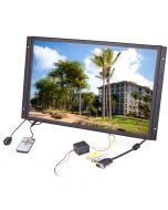 Pyle PLVW19IW 19 inch Panel Mount LCD Monitor - Front right no trim