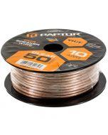 Metra Raptor RSW10-50 10-Gauge 50 Ft Clear Speaker Wire